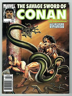 Savage Sword of Conan #191 Marvel Comics 1991 FN Minor Nick Top Right Corner
