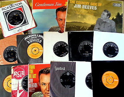 """JIM REEVES VINYL COLLECTION 7"""" Lp's Rare Early 60's Rca Victor Country Music"""