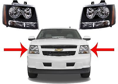 Replacement Headlights For 2007-2013 Tahoe Suburban Avalanche New Free Shipping