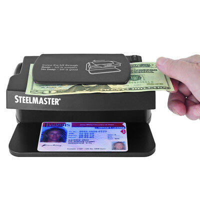 SteelMaster Counterfeit Bill Currency Detector UV Light Fake ID & Money Machine