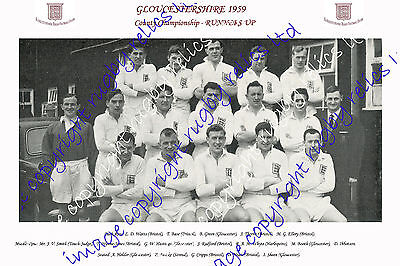 Gloucestershire – County Championship Runners-Up 1959 Rugby Team Photograph