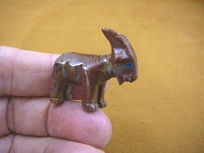 Y-GOA-24) red tan BILLY GOAT love fair goats carving stone gemstone SOAPSTONE