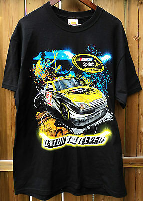 NASCAR Sprint Cup Series Black Men's T-Shirt New Chase Racing Shirt Size Large