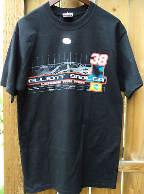 ELLIOTT SADLER New NASCAR Racing T-Shirt Size Medium Black Shirt SALE