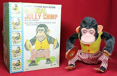 CK Daishin Musical Jolly Chimp w/ Box - Vintage - Monkey - Japan