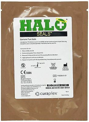 Halo Chest Seals 2 Per Package EXP: 2017 Occlusive Dressing