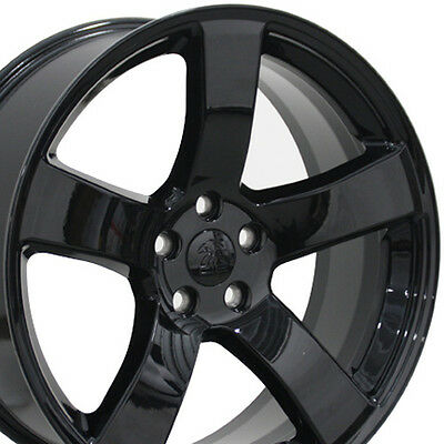 """20"""" Fits Dodge Charger Style Wheels Black 20x8 Set of 4 Rims"""