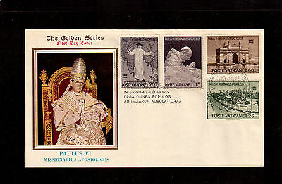 Vatican 1964 First Day Cover, Trip Of Pope Paul Vi To India #400/03 !!