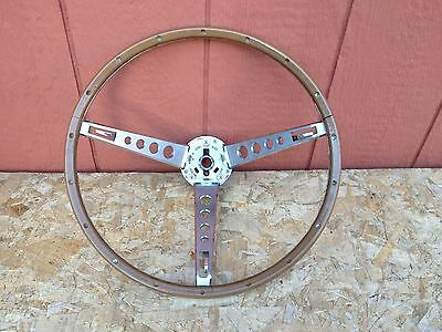 1965 1966 Mustang Fastback Shelby GT Pony Deluxe Steering Wheel Original Ford 66