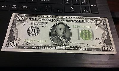 1928a $100 One Hundred Dollar Bill Federal Reserve Bank Note Of New York #1