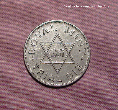1957 ROYAL MINT TRIAL DIE FOR ISRAEL & PALESTINE - Britannia Moneta - SCARCE