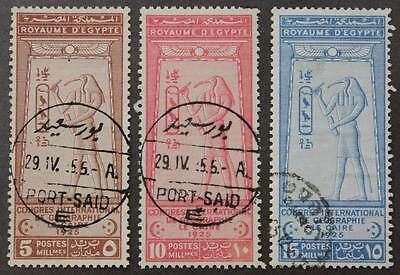 Egypt #105, 106 & 107, Set Of 3 Used, Nice Cancels, No Tears Or Thins