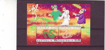 Christmas Isl - Sgms489 Mnh 2001 Year Of The Snake