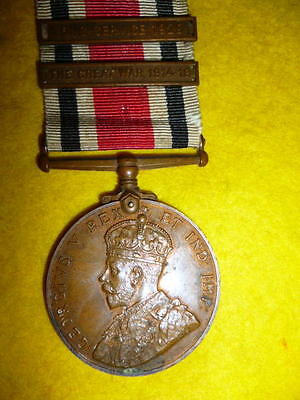 Special Constabulary Long Service Medal George V with WW1 Bar and 1929 Bar