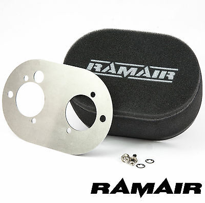 RAMAIR Performance Carb Air Filters With Baseplate Weber 40 DCOE 40mm Bolt On
