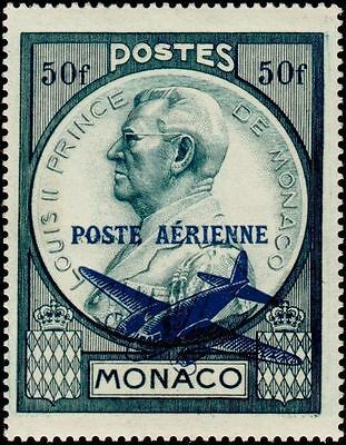 "MONACO STAMP POST AERIENNE 13 "" PRINCE LOUIS II 50 F OVERLOAD "" NEW xx LUXE"