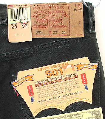 NEW vtg 90s LEVI'S high waist 501 black denim JEANS 25 x 30 usa LEVIS deadstock