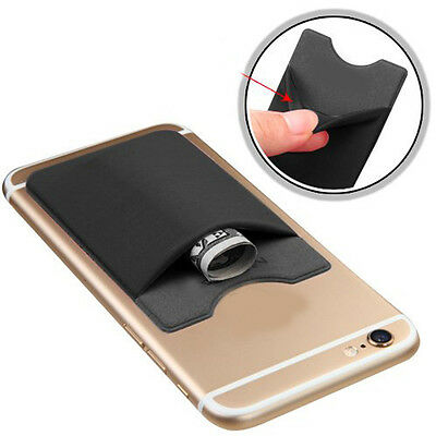 Universal Mobile Phone Silicone Holder ID Credit Travel Card Self-adhesive 1Pcs