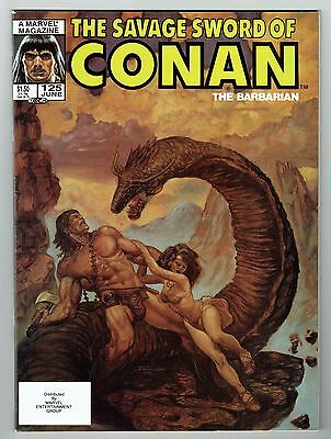Savage Sword of Conan #125 Marvel Comics 1986 VF- High Grade Barbarian Comic