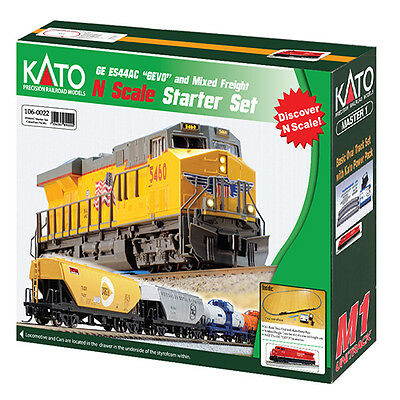 Kato 106-0022 N ES44AC Gevo and Mixed Freight Train Starter Set Canadian Pacific