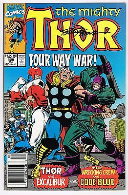Mighty Thor #428 Wrecking Crew App Marvel Comics 1990 Vf/nm Signed By Ron Frenz