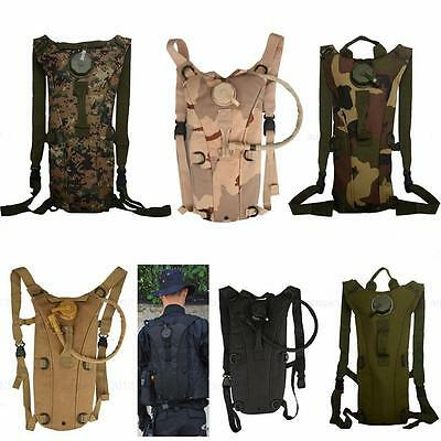 3L Water Bladder Bag Hydration Backpack Pack Hiking Camping Outdoor w/ straw BC