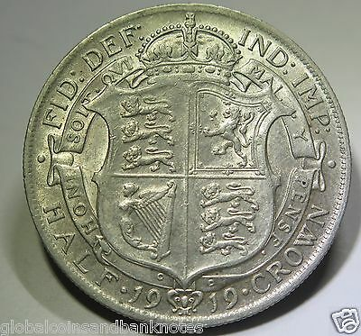 United Kingdom - 1919 King George V Silver Half Crown