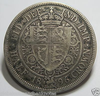 United Kingdom - 1896 Queen Victoria Silver Half Crown