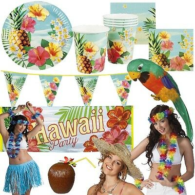 HAWAII PARTY Sommerfest Deko Pool Party Beachparty Strand - RIESENAUSWAHL