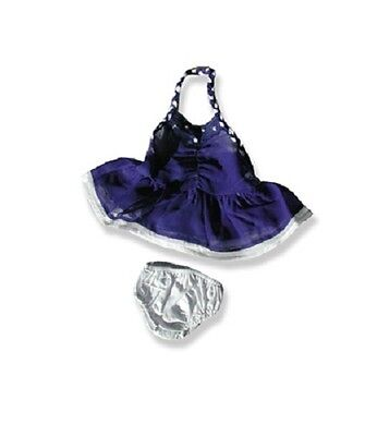"""Ice skater skating dress & knickers outfit teddy clothes fits 15"""" Build a Bear"""