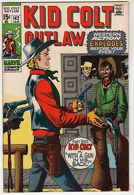 Kid Colt Outlaw #142 strict NM/NM- 9.2 High-Grade  100s more Westerns   C'ville
