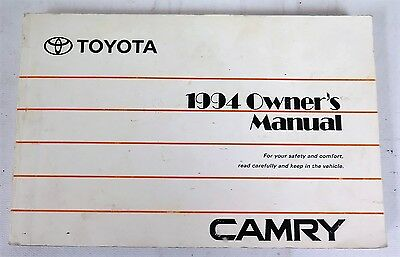 1998 toyota camry owners manual guide book u2022 19 22 picclick rh picclick com 1994 toyota camry owners manual 1994 toyota camry le owners manual