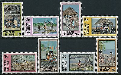 1976 Tokelau Definitives Set Of 8 Fine Mint Mnh/muh