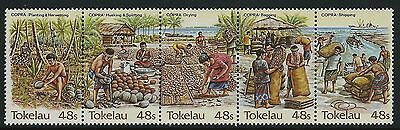 1984 Tokelau Copra Industry Strip Of 5  Fine Mint Mnh/muh