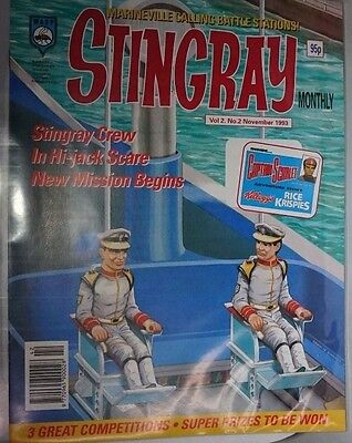 Stingray - The Comic. Vol 2 No.2.November 1993. ITC. including Captain Scarlet