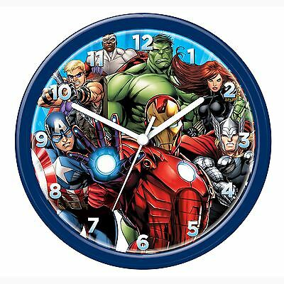 Marvel Avengers Wall Clock New Official Iron Man Hulk Bedroom