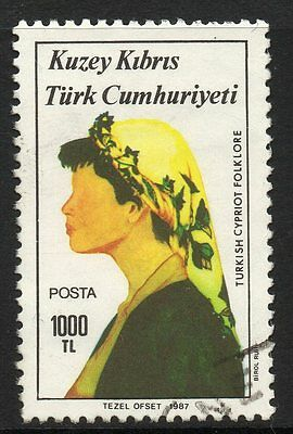 Cyprus-Turkish Sg215 1987 Folk Dancers 1000L F/used