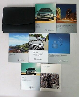 2013 Mercedes-Benz E-Class Coupe / Cabriolet Owners Manual Guide Book