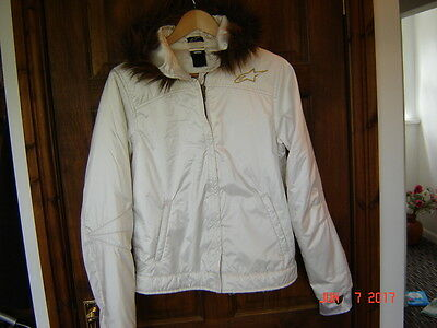 Alpinestars womens coat with fur hood
