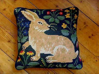 Ehrman Needlepoint Tapestry Cushion Rabbit Candace Bahouth Medieval Discontinued