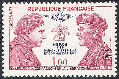 France 1973 Commando/Parachutist/Soldiers/Military/Army/WWII/Heroes 1v (n29182)