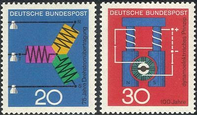 Germany 1966 Dynamo/Electric Current/Electricity/Science/Physics 2v set (n29611)