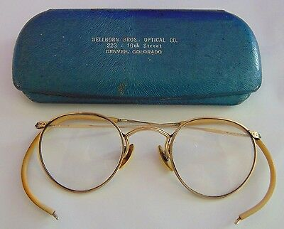 Vintage American Optical  Hibo  1/10 12 KGF  Eyeglasses with Case