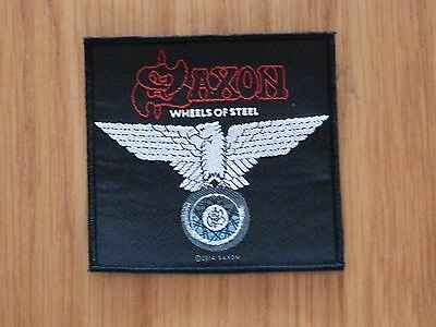 Saxon - Wheels Of Steel (New) Sew On W-Patch Official Band Merchandise