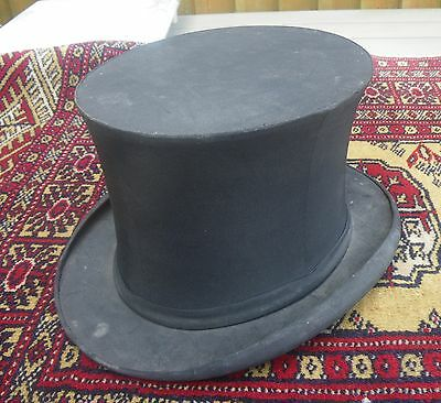 Antique 19Th C. Mens Dunlap & Co New York Folding~Collasping Top Hat