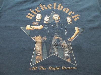 Nickelback All The Right Reasons World Tour 2006 T Shirt SizeL Large XL X-Large