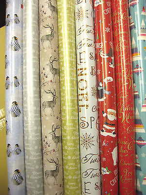 5-40 Metres Wrapping Paper Gift Wrap Christmas Birthday Rolls Top Quality Wraps