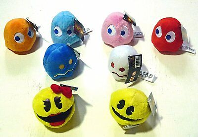"3"" Pacman / Monsters / Ghost Cuddly Toys Individually Sold. Genuine Licensed"