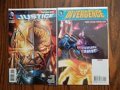 Justice League #40 & Divergence #1 New 52 Lot 1st Appearance Grail Hot