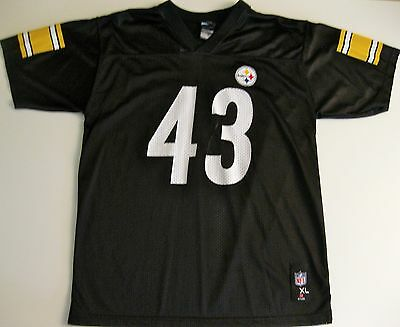 f5102409811 Pittsburgh Steelers Troy Polamalu Vintage Football Jersey Nfl  43 Youth Xl